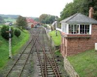 Quiet day at Beamish, looking back towards the station on 18 October 2006.<br><br>[John McIntyre&nbsp;18/10/2006]
