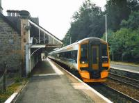 158 720 stands at Dunkeld in July 1998 with an Edinburgh - Inverness service. <br><br>[David Panton&nbsp;/07/1998]
