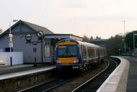 A class 170 heading for Edinburgh Waverley at Inverkeithing on 14 December. The up platform repeater banner signals are for Inverkeithing South Junction. As the Rosyth Dockyard Branch is not in regular use the left signal is defunct. <br><br>[Brian Forbes&nbsp;14/12/2007]