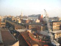 View over Kingsland viaduct on 19 December 2007, showing the recent installation of a replacement bridge, plus other ongoing civil engineering activity in connection with the East London Line extension.<br><br>[Michael Gibb&nbsp;19/12/2007]