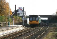 A class 142 DMU leaving Shildon on 4 November 2007 en route from Bishop Auckland to Darlington and, ultimately, Saltburn. <br><br>[John Furnevel&nbsp;04/11/2007]