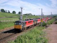 Virgin trains WCML service heading north past Harrisons Sidings in 2002.<br><br>[Ewan Crawford&nbsp;//2002]