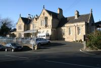 The classic 1847 station building at Morpeth, once an important junction, seen looking west in November 2007. <br><br>[John Furnevel&nbsp;08/11/2007]