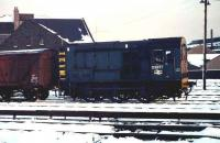 D3877 shunting Guild Street yard in the winter of 1973.<br><br>[John McIntyre /11/1973]