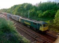 Freightliner-hauled container train passing Mossend East Junction in 2002.<br><br>[Ewan Crawford&nbsp;//2002]