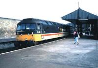 47430 brings an Aberdeen - Inverness train into Forres in October 1987.<br><br>[David Panton&nbsp;/10/1987]