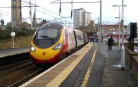 A Pendolino service from Birmingham terminates at Motherwell on 2 January 2008.<br><br>[John McIntyre&nbsp;02/01/2008]
