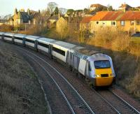 The NXEC 0910 Edinburgh - Aberdeen passing Aberdour in winter sunshine on 6 January 2008 <br><br>[Bill Roberton&nbsp;06/01/2008]