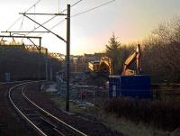 Remains of Hyndland signalbox, 3 January 2008.<br><br>[Andy Kirkham&nbsp;03/01/2008]