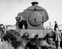 Former Wemyss Private Railway No 16 at Knightsward on the Lochty PR in the mid 1970s with the late Ian Fraser bottom right. Hornby has announced a OO model of this locomotive, which is currently based at Brechin.<br><br>[Bill Roberton&nbsp;//]