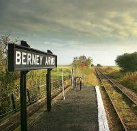 One of the most remote stations in England has to be Berney Arms on the former Yarmouth & Norwich line in the midst of the Norfolk Broads. The short-platform request stop has no road access and is otherwise acessible by foot or by boat on the River Yare. The station was named after the land owner who sold the land to the Norwich & Yarmouth Railway Co.<br><br>[Ian Dinmore&nbsp;/09/2007]