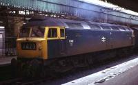 1746 stands at Aberdeen platform 2 in September 1973, shortly after arriving with a service from the south.<br><br>[John McIntyre&nbsp;/09/1973]