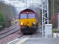 66207 at Paisley Gilmour Street heading East with a coal train for Longannet PS<br><br>[Graham Morgan&nbsp;14/01/2008]