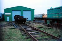 The compound of the Kingdom of Fife Railway Preservation Society at Kirkland Yard, Methil. View looks east. The out of use line to Methil power station (and formerly the docks) is out of shot to the right. The Leven Railway was to the left.<br><br>[Ewan Crawford&nbsp;04/01/2008]