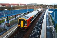 Hello Stranger! A visitor takes the outer Fife Circle service east towards Townhill yard.<br><br>[Ewan Crawford&nbsp;05/01/2008]