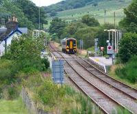 Afternoon service on the far north line pulls into Rogart on 25 August 2007 on its journey to Inverness. <br><br>[John Furnevel&nbsp;25/08/2007]