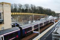Southbound service arrives at the <i>all new</i> Markinch station.<br><br>[Ewan Crawford&nbsp;04/01/2008]