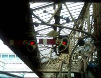 Platform signals at Aberdeen in the 1970s.<br><br>[Ian Dinmore&nbsp;//]