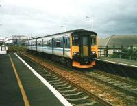 The daily service to Carnoustie at Golf Street in July 1998. (The trains destination blind did not contain <I>Carnoustie</I> - hence <I>Dundee</I> remains on display). <br><br>[David Panton&nbsp;/07/1998]