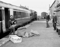<I>When was that shipment of Waterford Crystal due Michael..?</I> Unloading the mail at Claremorris, County Mayo in 1988.<br><br>[Bill Roberton&nbsp;//1988]