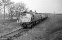 The GNSRA <I>Formartine & Buchan Railtour</I> to Peterhead and Fraserburgh, heading south at Brucklay station behind D5323 on 24 May 1969. [With thanks to John Williamson for additional information.] <br><br>[Robin Barbour collection (Courtesy Bruce McCartney)&nbsp;24/05/1969]