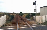 Not much left here! The site of Hoy station (closed 1965), photographed on 28 August 2007 looking towards Thurso from the open level crossing.  <br><br>[John Furnevel&nbsp;28/08/2007]