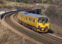 A class 950 Track Assessment Unit heads south towards the Forth Bridge on 4 February having just crossed Jamestown Viaduct. <br><br>[Bill Roberton&nbsp;04/02/2008]