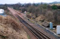 Looking west from Cawburn Junction showing the track doubling approaching the point where the track <i>singled</i>.<br><br>[Ewan Crawford&nbsp;27/01/2008]