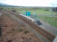 Opened as Llandanwg Halt in 1929. A tiny Cambrian Coast line station that looks like it has been lifted straight off a model railway. View south towards Tywyn. <br><br>[Mark Bartlett&nbsp;03/02/2008]