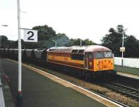 56018 passes through Inverkeithing station in July 1998 on its way back to Hunterston with coal empties.<br><br>[David Panton&nbsp;/07/1998]