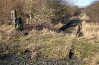 A farm accommodation crossing south of Elbowend Junction photographed on 6 February 2008. The old crossing is on part of the Charlestown/Crombie branch dating from the original Elgin Railway of 1723. <br><br>[Bill Roberton&nbsp;06/02/2008]