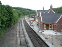 Kingsley and Froghall station under (re)construction. The new building is different from the original but a fine addition. View looks to Oakamoor.<br><br>[Ewan Crawford&nbsp;11/07/2003]