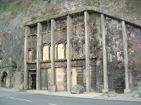 Entrance to the Clifton Rocks Railway, Bristol, a hydraulically powered funicular within the cliff face of the Avon Gorge, closed in 1934. [See image 33145]<br><br>[Ewan Crawford&nbsp;11/03/2003]