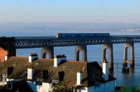 Edinburgh train leaving the south end of the Tay Bridge on 12 February.<br><br>[Brian Forbes&nbsp;12/02/2008]