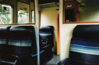 The exceptionally comfortable former first class seating of a 117 DMU, photographed in May 1997.<br><br>[David Panton&nbsp;/05/1997]