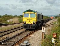 66592 brings a freight through Pilning station on the eastern side of the Severn Tunnel in August 2007.<br><br>[Peter Todd&nbsp;17/08/2007]