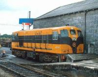 CIE 159 stands at the buffer stops at the end of the platform at Claremorris in 1988.<br><br>[Bill Roberton&nbsp;//1988]