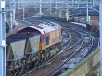 66192 after passing through Paisley Gilmour Street with a coal train on 22nd February<br><br>[Graham Morgan&nbsp;22/02/2008]