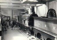 LB&SCR 214 <I>Gladstone</I> inside the old York railway museum on Queen Street circa 1969.<br><br>[John Alexander&nbsp;//1969]