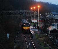 On the last day of 2007 a train heads for Balloch. The old northbound platform has largely disappeared now.<br><br>[Ewan Crawford&nbsp;31/12/2007]