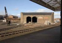 The old goods yard and shed at Arbroath on 27 February. Strangely free of weeds given the years of disuse.<br><br>[Bill Roberton&nbsp;27/02/2008]