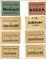 Old Irish railway luggage labels.<br><br>[Sam Kydd Collection (Courtesy John McIntyre)&nbsp;//]
