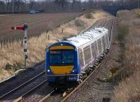 Northbound ECML service passing the up starter at Craigo on 27 February<br><br>[Bill Roberton&nbsp;27/02/2008]