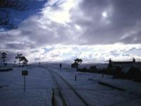 <I>The long wait</I>. View south at Kinbrace in the snow. Christmas 1992.<br><br>[Ian Dinmore&nbsp;//1992]