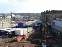 View from the GNSR built Station Hotel over the redevelopment work in and around Aberdeen Station. Guild Street yard in the centre distance is now totally devoid of tracks. The old bus station, built in the 1960s seen to the left awaits demolition. The architecture of the new station facade on the right does not really inspire at the moment, perhaps it will look better upon completion.<br><br>[John Williamson&nbsp;08/03/2008]