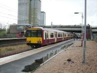 318 267 at Cardonald on 8 March on a service to Glasgow Central.<br><br>[David Panton&nbsp;08/03/2008]