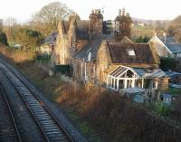 Borwick Station (SD537729) opened in 1867 and closed in 1960 but still used as a home. Viewed westwards towards Carnforth. Just down the hill from here stands <I>Railway Cottage</I>, which has an interesting story....[See image 18285]<br><br>[Mark Bartlett&nbsp;15/02/2008]