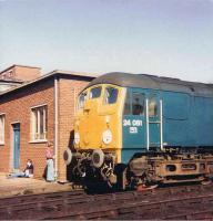 Last survivor in service - 24081 stands outside Crewe works on 27 September 1979.<br><br>[Colin Alexander&nbsp;27/09/1979]
