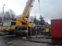 Heavy lifting gear brought in to remove the main sections of the bridge<br><br>[Colin Harkins&nbsp;07/03/2008]