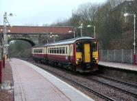 156 502 on an Anniesland - Queen Street service at Gilshochill on 8 March.  <br><br>[David Panton&nbsp;08/03/2008]